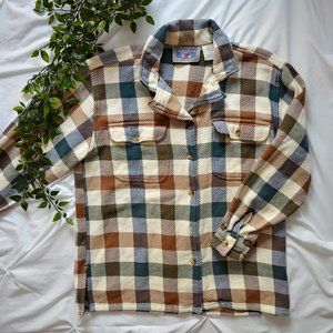 Cozy Vintage Plaid Button-Up Shirt